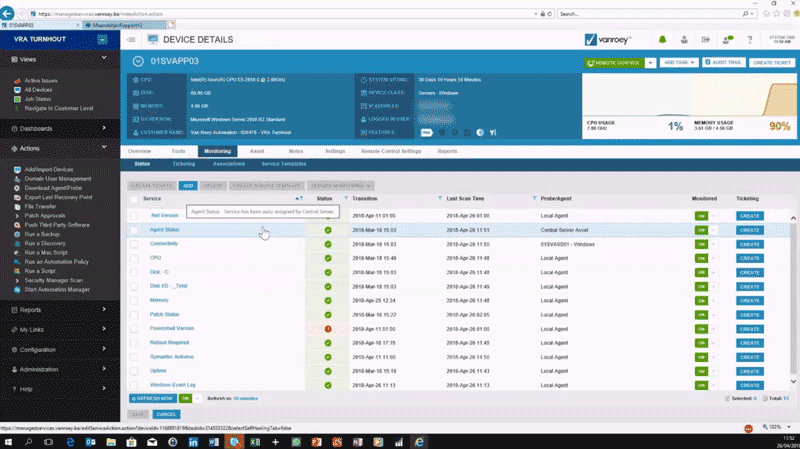 Managed Services Deepdive screenshot